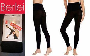 Berlei Platinum Plush Opaque Warm Cosy Leggings Thermal Soft Fleecy Feel Black