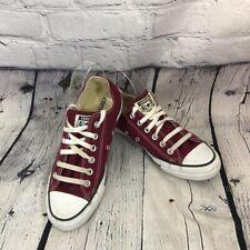 Converse Maroon Low Top Sneakers Women's size 8 Men's Size 6
