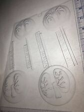 LUNGS LOLLIPOP CLEAR PLASTIC CHOCOLATE CANDY MOLD H181