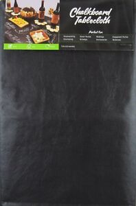 Black Chalkboard Vinyl Flannel Back Tablecloth Various Sizes