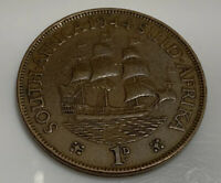 1944 George VI South Africa One Penny Coin