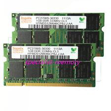 New KIT Hynix 2GB 2X1GB DDR-333MHZ PC2700 Laptop Memory  Ram 200pin SODIMM Pair
