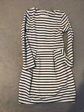 H&m 4-5 4-6 5-6 Girls striped Long Sleeved Dress Black White