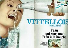 PUBLICITE ADVERTISING 106  1970   la Vittelloise eau minérale (2p) pétillante