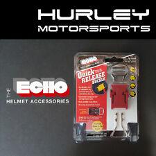 ECHO Quick Release Motorcycle/ATV/Snow Helmet Chin Strap - Red (0108-003)