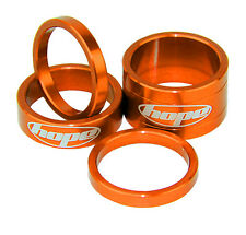 """Hope Space Doctor Orange 2x5mm 1x10mm 1x20mm Spacers For 1-1/8"""" Steerer New"""
