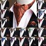 Hot Sale Mens Stylish Paisley Cravat Handkerchief Scarf Ascot Pocket Square Set