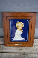 Vtg Goebel Hummel Picture Bless us All By Charlot Byj Hummel Werk Framed Boy