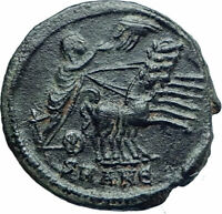 CONSTANTINE I the Great CHARIOT to GOD HAND in HEAVEN Ancient Roman Coin i78466