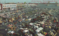 DB Postcard ca1915 A394 Everyday Scene Fruit and Vegetable Market Los Angeles Ca