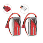 2PCS 1500mAh 7.4V 25C LiPo Battery Pack with T Plug for RC Car Boats Helicopter