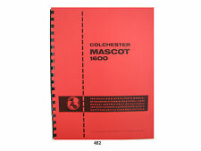 "Colchester Mascot 1600 Lathe 17"" Op, Service, & Parts Manual #482"