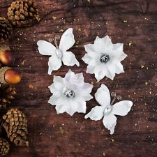"BRAND NEW PRIMA FLOWERS ""BETHLEHAM - SNOW FROST"" Metallic Butterflies & Flowers"