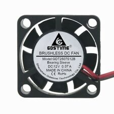 10Lots 12V 2Pin 25mm 25x10mm Mini DC Brushless Computer Cooling Fan Industry Fan