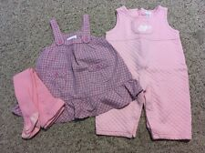 Girl's 6 Months Lot ~ Overalls & OSHKOSH Genuine Baby Jumper Dress *Bonus Tights