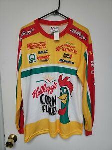 Vtg 1999 Terry Labonte Kelloggs Shirt #5 Nascar NWT Lg All Over Print