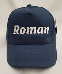 Personalised Kids Children's Embroidered base ball cap hat with Name