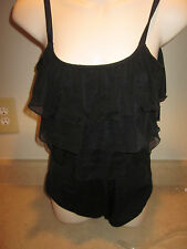GREAT LENGTHS Womans Size 10  Tummy Control Black baithing suit- NEW- MSRP 68.00