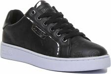 Guess Fl7Banele12 A-Banq Active Lace Up Casual Trainer In Black Size Uk 3 - 8