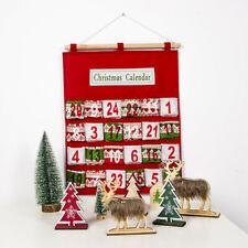 Merry Christmas Advent Calendar Traditional Wall Hanging Storage Bag Decoration