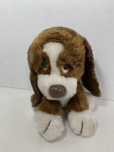 Russ Berrie Baxter Basset Hound vintage plush puppy dog brown white 872