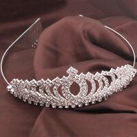 Corona tiara diadema strass accessori capelli acconciatura sposa matrimonio