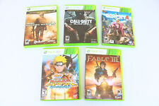Mixed LOT 5 Xbox 360 Games Fable III Black Ops Warefare 2 Farcry Ninja