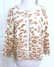 CHICO'S *NWT 2 LEOPARD BROWN CARDIGAN L $128