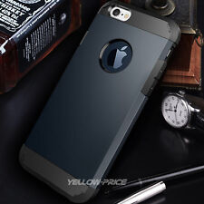 Shockproof Hybrid Hard Soft Case ArmorCover REAL Glass Film For iPhone 5 5S 5G