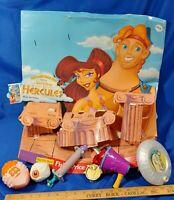1998 Hercules Disney VHS McDonald's Happy Meal Store Display Toys Set VTG Rare