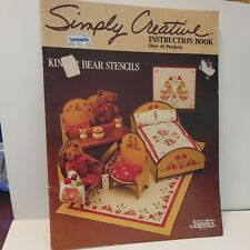 Vintage Simply Creative Bear Stencils Instruction Book With Patterns