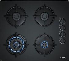 Bosch Encimera de Gas Negro 60cm Autark Cristal 4 Focos POH6B6B10 Wok