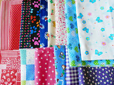 25 X Patchwork Bundle Fabric Polycotton Scraps Joblot Mixed Craft Bunting