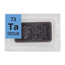 1 Gram .999 Pure Tantalum Rare Ingot Periodic Bar Metal Bullion in Element tile