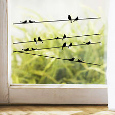 DIY Removable Black Birds Tree Branch Vinyl Wall Stickers Mural Art Room Decal