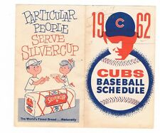 1962 CHICAGO CUBS. fold-out baseball schedule - AS IS