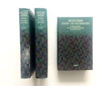 BRUDER GRIMM KINDER- UND HAUSMARCHEN 1984 Brothers HB German Fairy Tales 3 Vols
