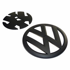 genuine OEM Volkswagen emblem VW T6 Crafter SY SZ front grille badge black matt