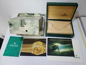 Genuine Rolex 16610 box with Submariner booklet 1990