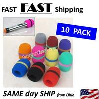 Hot 10 PCS Colorful Handheld Stage Microphone Windscreen Foam Mic Cover Karaoke