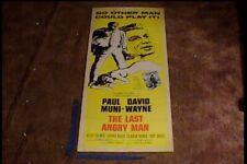 LAST ANGRY MAN 1959 INSERT 14X36 MOVIE POSTER PAUL MUNI