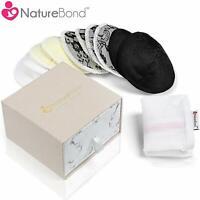 NatureBond Washable Organic Bamboo Nursing Pads Contoured Reusable (10 Pack)