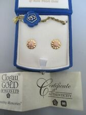 Clogau Welsh Gold Daisy Earrings 9ct