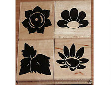 """D.O.T.S.""""FLORAL"""" SET OF 4  RUBBER STAMPS"""