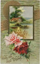 Embossed Single Best Wishes Collectable Greeting Postcards