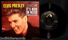 ELVIS PRESLEY-It's Now Or Never-Picture Sleeve & 45-RCA VICTOR #47-7777