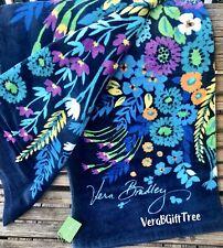 Vera Bradley MIDNIGHT BLUES Beach Towel RARE Oversized SOFT Plush Pool Lake NWT