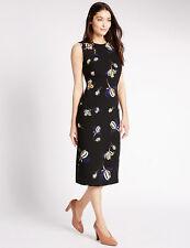 BNWT m&s Collection Black Floral Print Sleeveless Body vendeur dress size 10