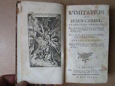 GONNELIEU : L'IMITATION DE JESUS-CHRIST, 1780, 4 gravures, + sermons carême 1738