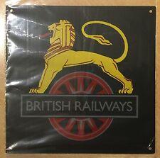 RAILWAY SIGN -  BRITISH RAILWAYS - LION ASTRIDE A WHEEL